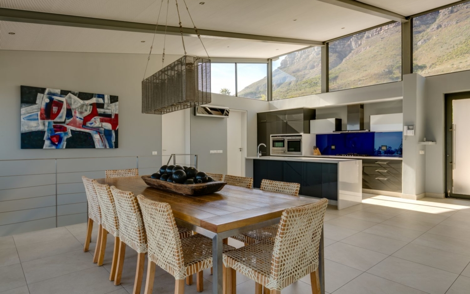 Luxury Villa Rental Cape Town Camps Bay Hely Horizon Dining To Kitchen New