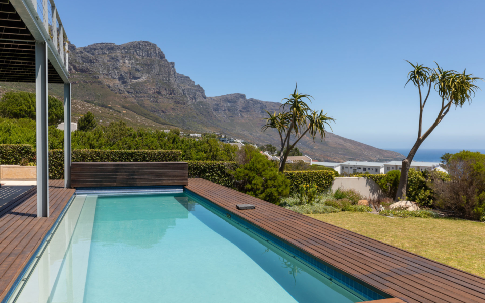 Luxury Villa Rental Cape Town Camps Bay Hely Horizon Large Pool Area