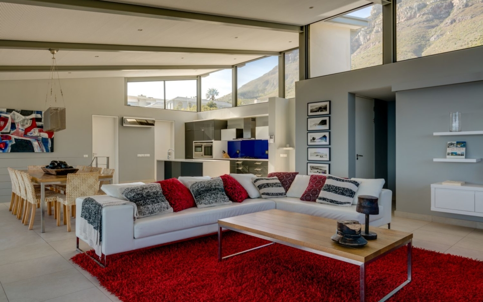 Luxury Villa Rental Cape Town Camps Bay Hely Horizon Lounge To Kitchen New