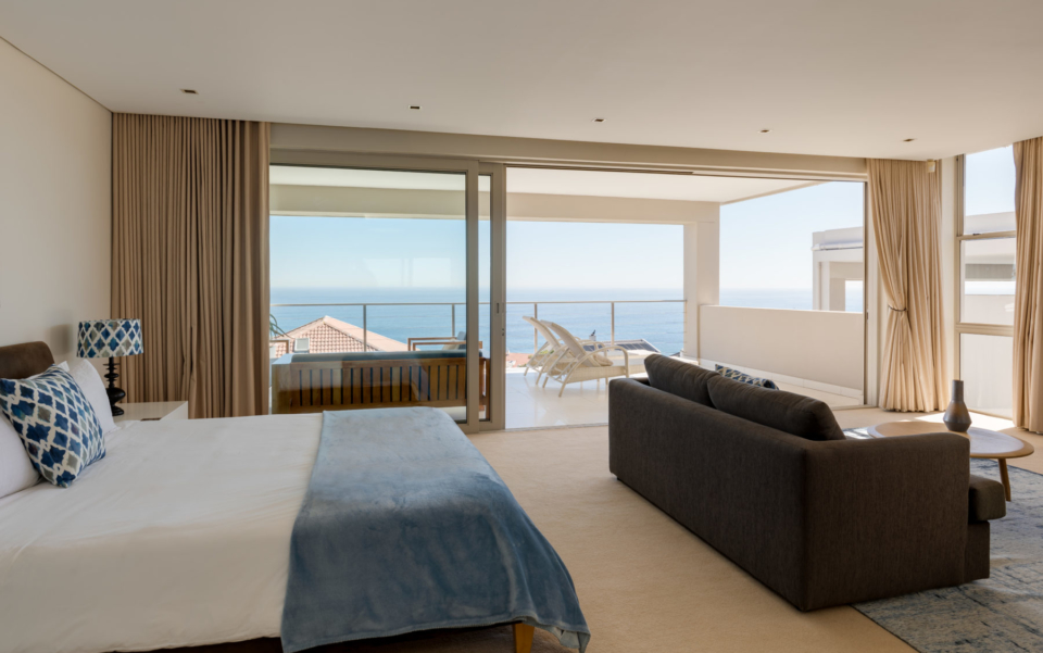 Luxury Villa Rental Vacation Home Cape Town Camps Bay Finchley Bedroom 1 View