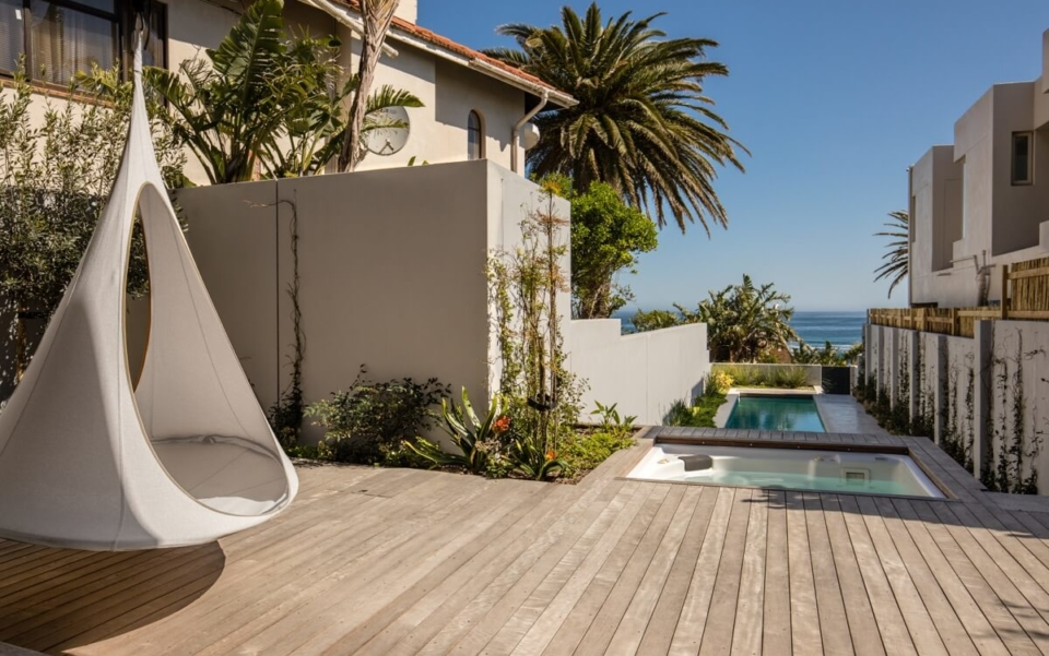 Cape Town Camps Bay Luxury Villa Victoria 54 Pool Patio Towards The Pool And Jacuzzi