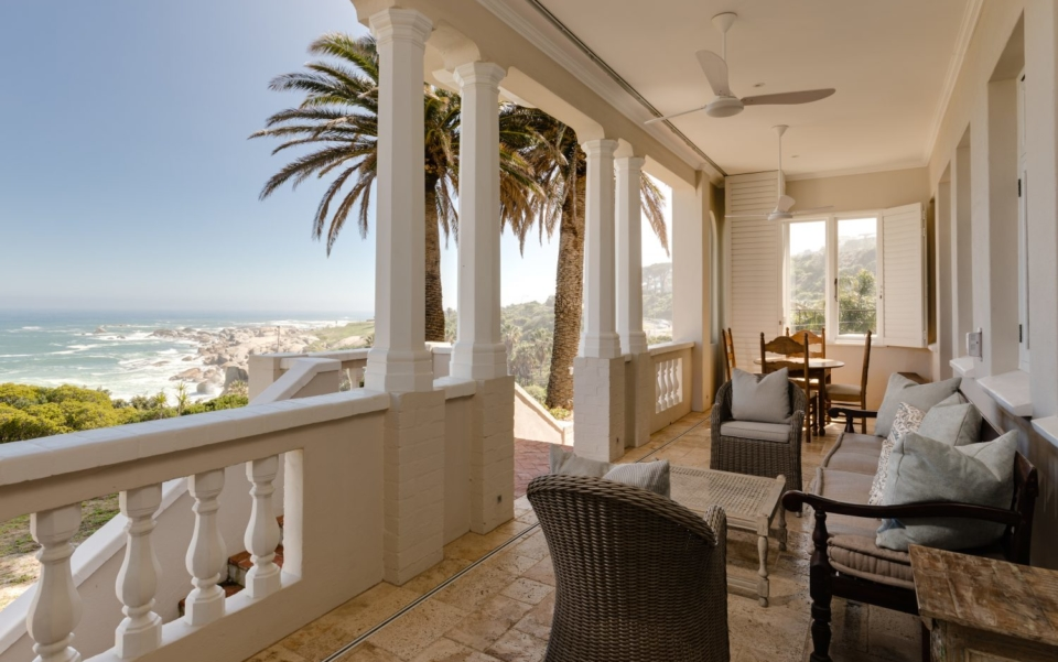 Luxury Cape Town Camps Bay Villa Lower Level Patio With Sea Views