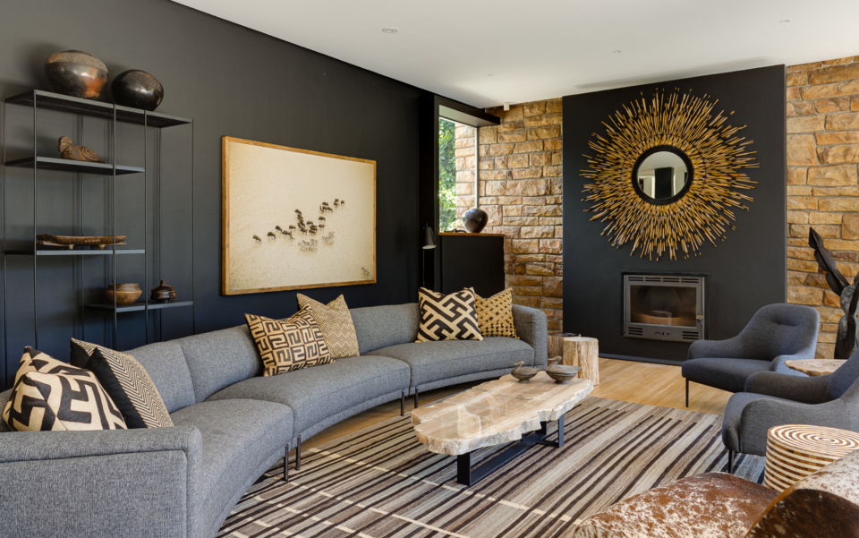 Luxury Cape Town Camps Bay Holiday Villa Le Thallo Lounge Fire Place