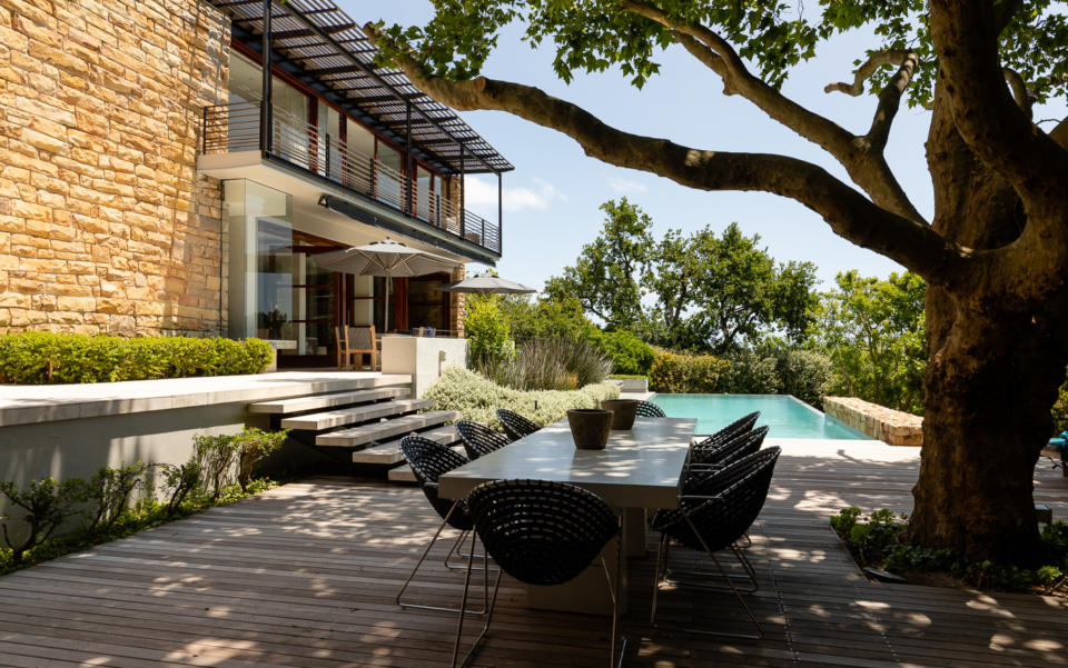 Luxury Cape Town Camps Bay Holiday Villa Le Thallo Outdoor Pool Dining